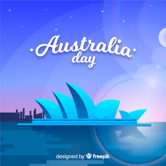 オーストラリアの創造的な日の背景