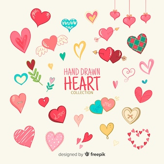 Коллекция рисованной сердца