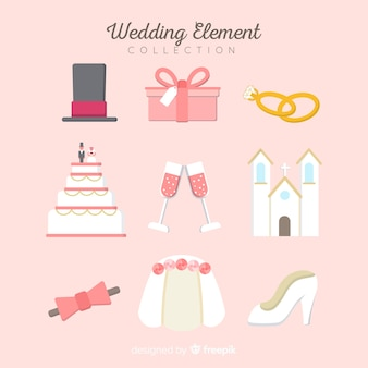 結婚式の要素のコレクション