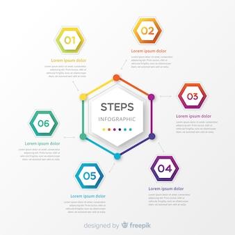 Инфографика с шагами