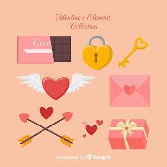 バレンタインデーの要素のコレクション