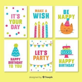 誕生日の招待状カードコレクション