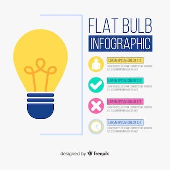 Лампочка инфографики