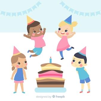 誕生日の子供たち