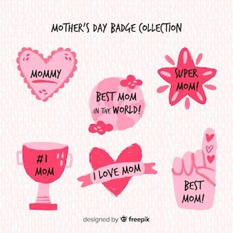 母の日バッジコレクション
