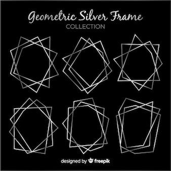 シルバーの幾何学的なフレームコレクション