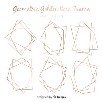 Коллекция геометрических кадров из розового золота