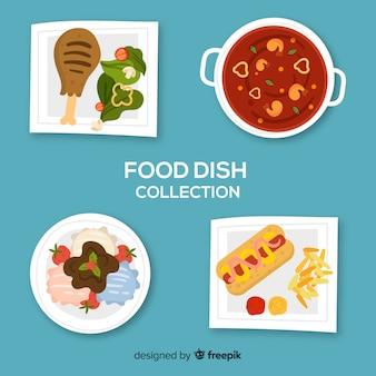 Коллекция рисованной еды блюдо