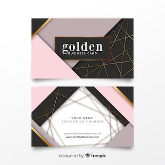 幾何学的なビジネスカードテンプレート