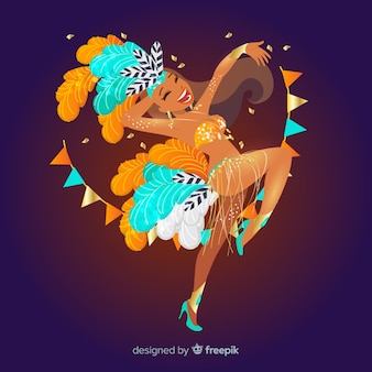 ブラジルのカーニバルダンサー