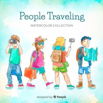 旅行する人々