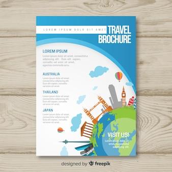 Шаблон туристической брошюры