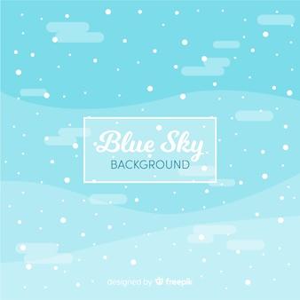 Снежное небо фон