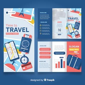 Шаблон брошюры о путешествии