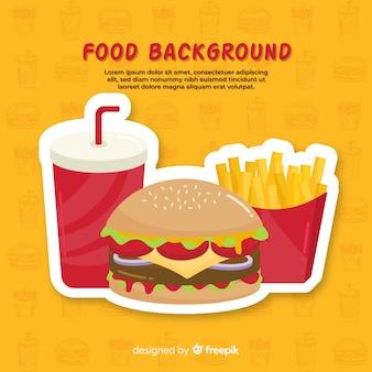 食品の背景