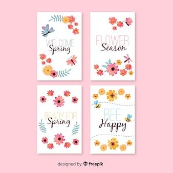 水彩春カードコレクション