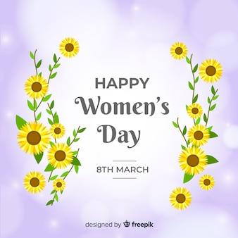 平らな女性の日の背景