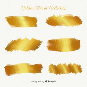 ゴールドブラシストロークコレクション