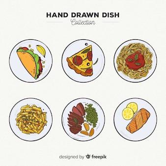 手描き食品料理コレクション