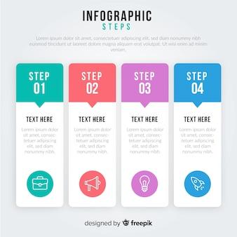 ステップのインフォグラフィック