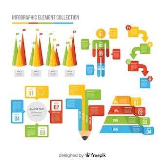 Плоский инфографики элемент коллекции