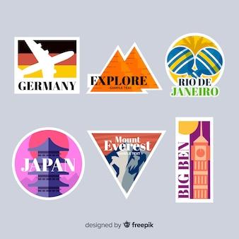 Коллекция туристических стикеров