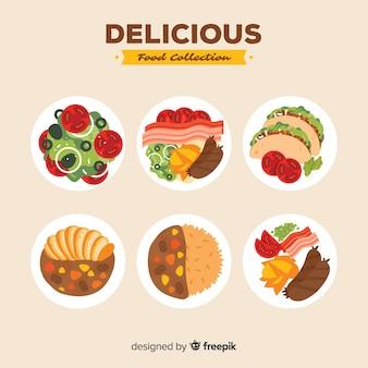 Упаковка вкусных блюд