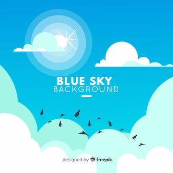 青い空を背景