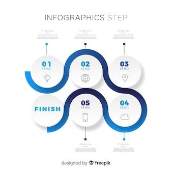 Шаги инфографики