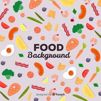 小さな食べ物の背景
