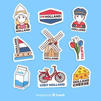 Коллекция стикеров нидерландов