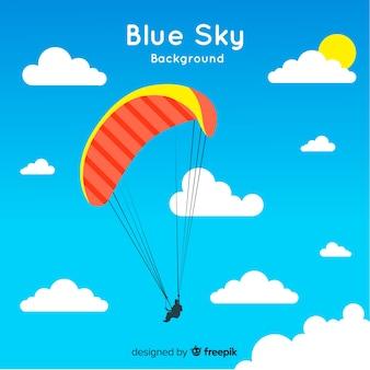 Голубое небо фоном