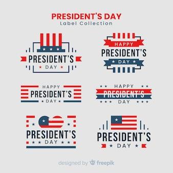 大統領の日のラベルコレクション