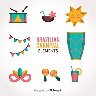 ブラジルのカーニバル要素コレクション