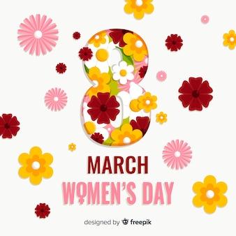 女性の花の日の背景