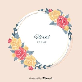 手描きのバラ春の背景