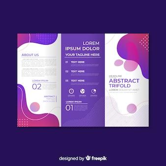 Плоская абстрактная тройная брошюра