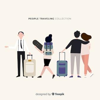 Ручной обращается люди, путешествующие коллекции