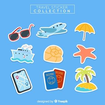 美しい旅行ステッカーコレクション