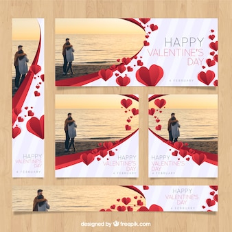 День святого валентина веб-баннеры с фото