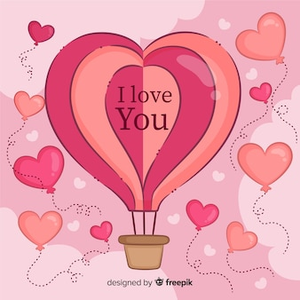 Воздушный шар сердце фон