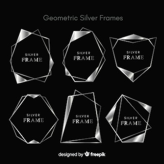 幾何学的なシルバーフレームコレクション