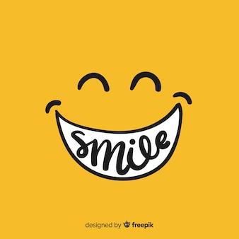 笑顔のシンプルな背景