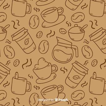 無色のコーヒーの背景