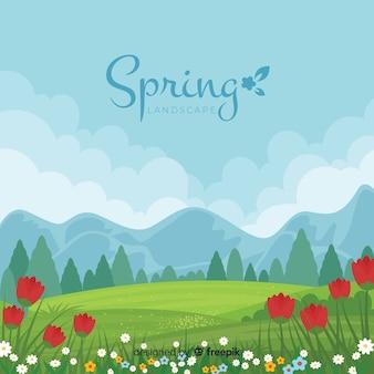 Пейзаж весенний фон
