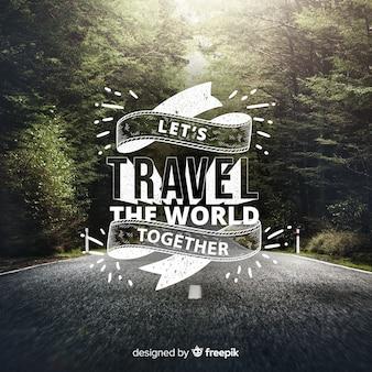 旅行レタリング