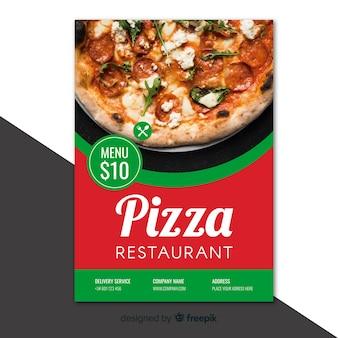 Флаер фотографического пиццерия