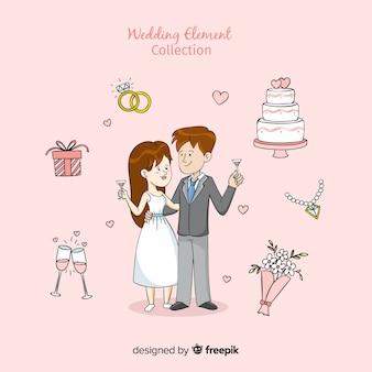 漫画の結婚式の要素のコレクション
