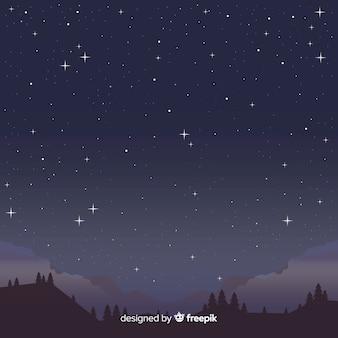 夜の星空の背景