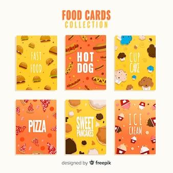 フラットフードカードコレクション